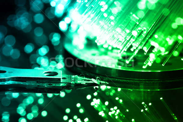 Vezel optica licht business computer Stockfoto © arcoss