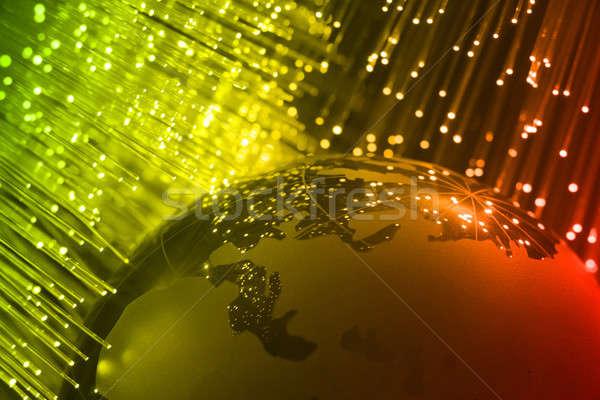 Włókno optyczny włókno optyka świetle Zdjęcia stock © arcoss