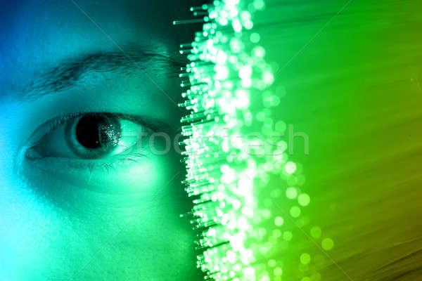 Teknoloji göz kırmızı izlemek veri insan Stok fotoğraf © arcoss
