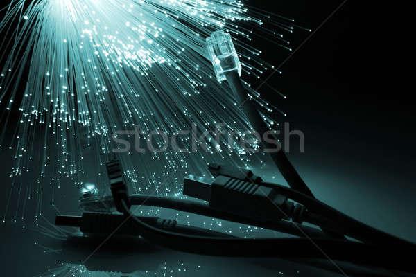 繊維 オプティカル 世界中 光 技術 背景 ストックフォト © arcoss