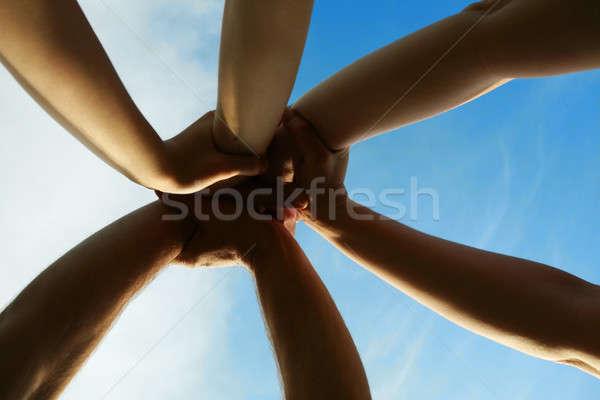 Ciel mains affaires soleil résumé signe Photo stock © arcoss