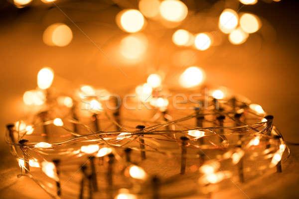 Fil réseau bokeh lumière internet technologie Photo stock © arcoss