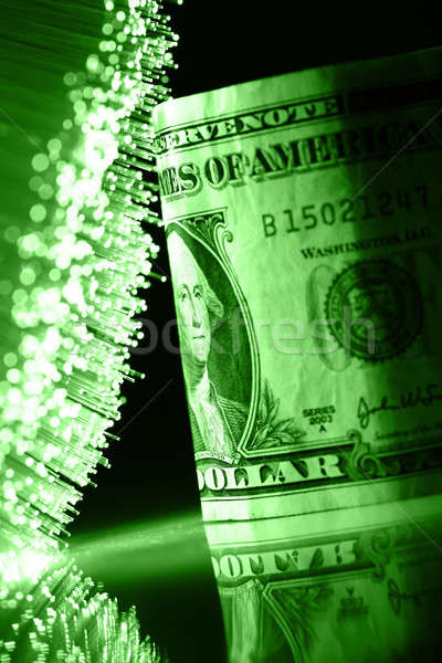 Fibra ótica luz fundo metal Foto stock © arcoss