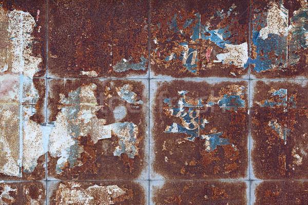 Piatto metal arrugginito tutti vecchio Foto d'archivio © arcoss