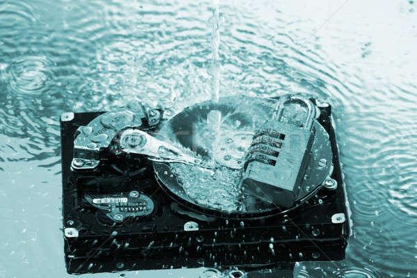 Csobbanás víz internet adat csobbanás lemez Stock fotó © arcoss