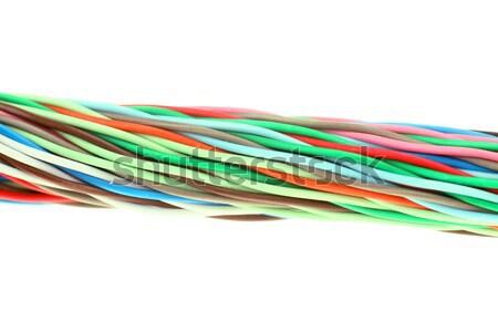 Szín kábel textúra absztrakt ipar hullám Stock fotó © arcoss