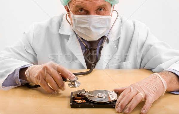 Orvos pc egészség háttér gyógyszer állás Stock fotó © arcoss