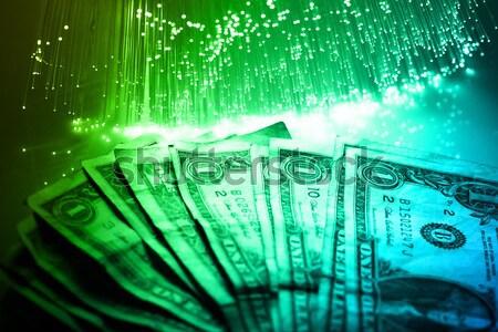 Fibre optique lumière affaires ordinateur Photo stock © arcoss