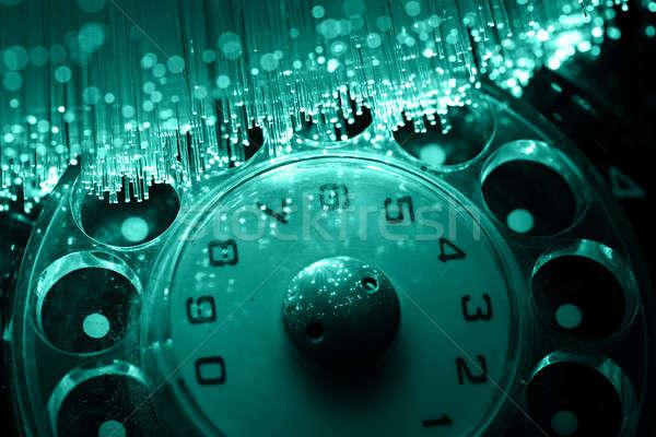 Włókno optyka świetle działalności komputera Zdjęcia stock © arcoss