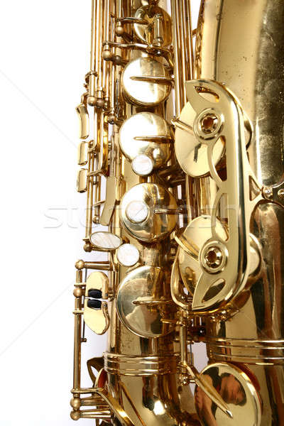 Saxophone  isolated on white background Stock photo © arcoss