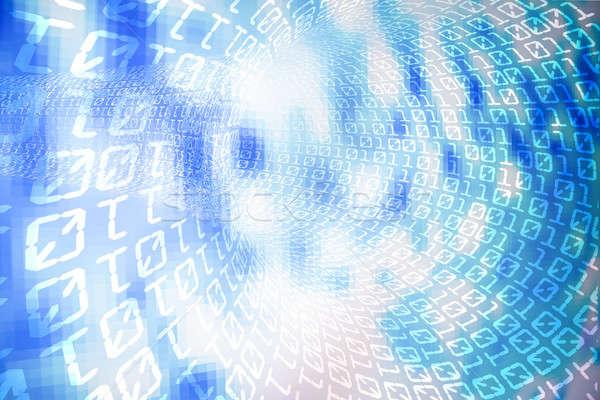 Ikili kod Internet soyut ışık mavi hızlandırmak Stok fotoğraf © arcoss