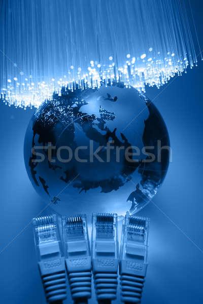 Fibra ótica luz globo tecnologia Foto stock © arcoss