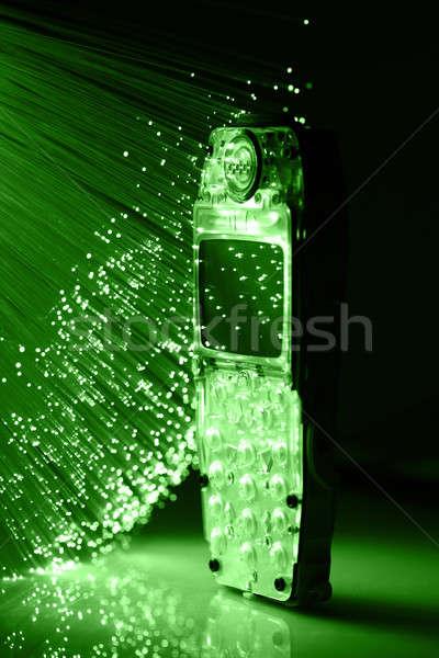Rost optika fény foltok üzlet számítógép Stock fotó © arcoss