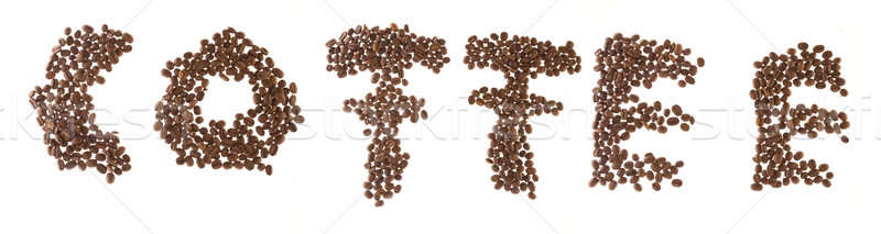 Kaffee Mosaik Textur abstrakten Schreiben Kaffeehaus Stock foto © arcoss