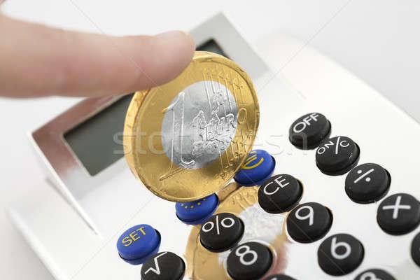 Kalkulator ceny działalności papieru pracy tle Zdjęcia stock © arcoss