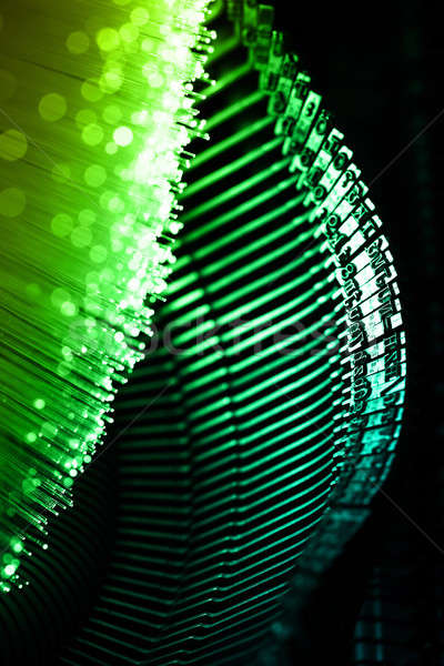 Fiber optics background with lots of light spots Stock photo © arcoss