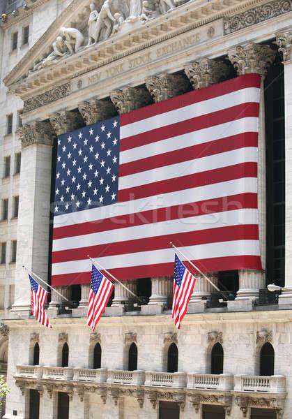 Wall Street gebouw muur financieren voorraad financiële Stockfoto © arcoss