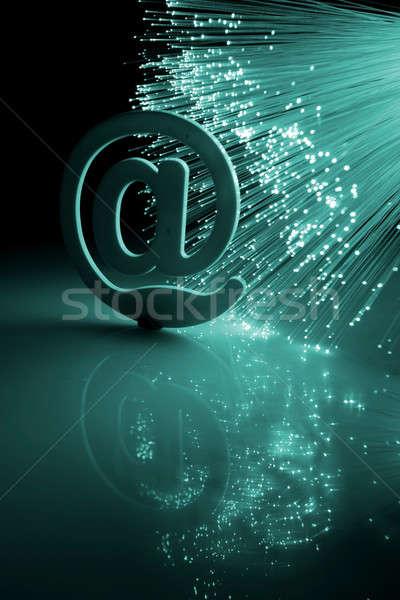 Fibre optique ordinateur internet résumé design Photo stock © arcoss