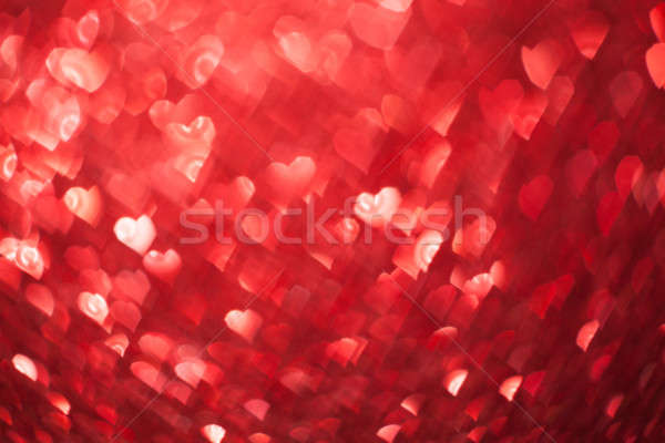 Shiny hearts bokeh light Valentine's day background Stock photo © arcoss