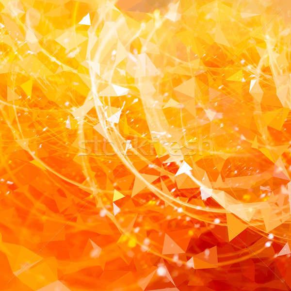 Streszczenie złota kółko line projektu ognia Zdjęcia stock © arcoss