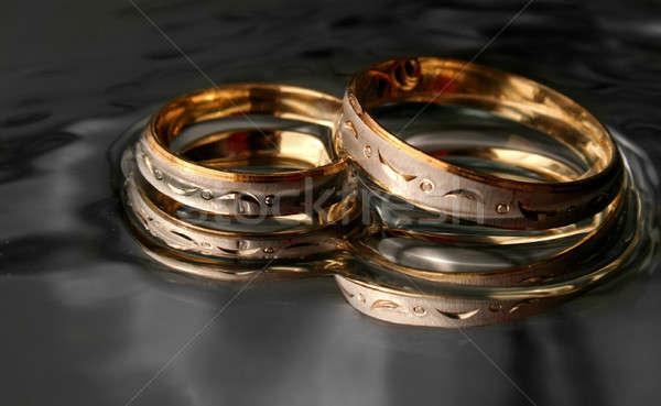 Anello di fidanzamento wedding amore anello ombra sposato Foto d'archivio © arcoss