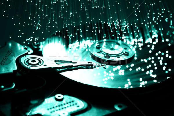 繊維 光学 光 斑 コンピュータ 技術 ストックフォト © arcoss
