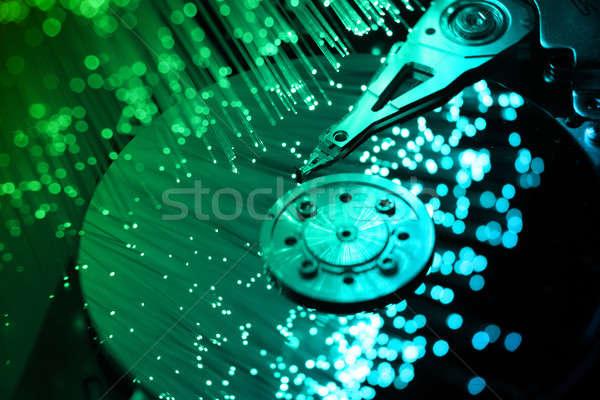 fibre optical and computer harddisk Stock photo © arcoss