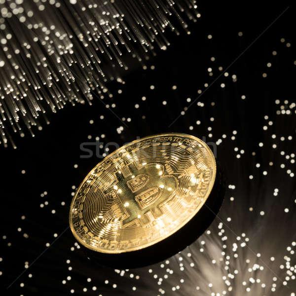 Bitcoin rost optika fény üzlet internet Stock fotó © arcoss