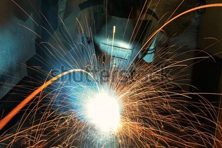 Soldagem construção trabalhar luz metal indústria Foto stock © arcoss
