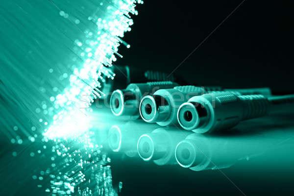 Fibre optique lumière technologie suivre Photo stock © arcoss