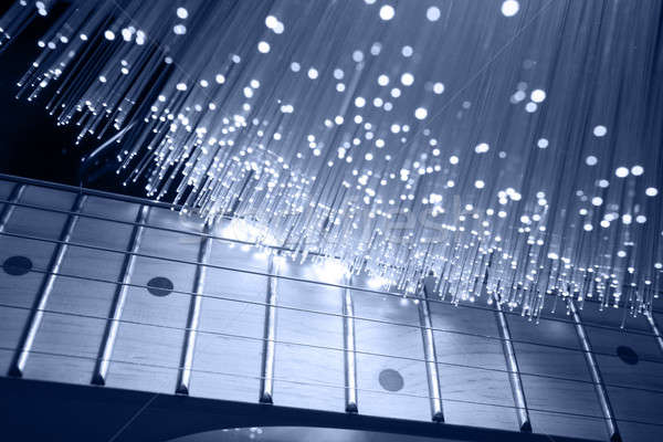 Stok fotoğraf: Gitar · teknoloji · müzik · arka · plan · caz · ses