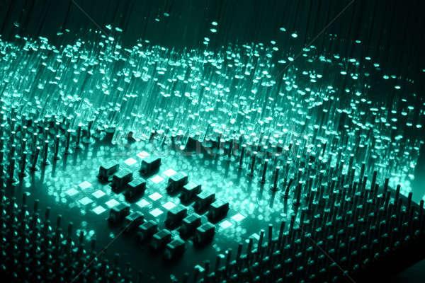 繊維 光学 光 斑 抽象的な スペース ストックフォト © arcoss