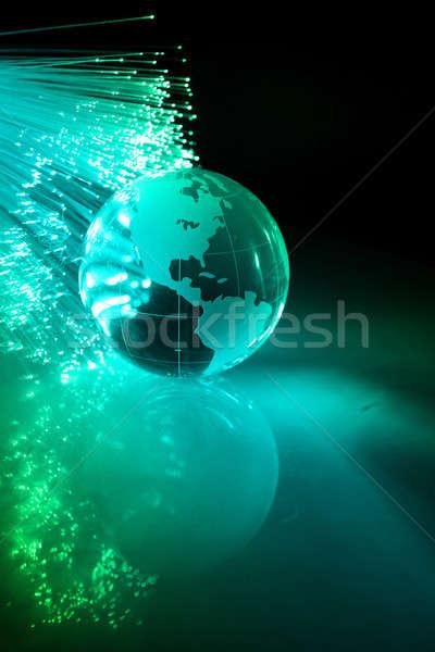 Сток-фото: волокно · оптический · мира · свет · технологий · фон
