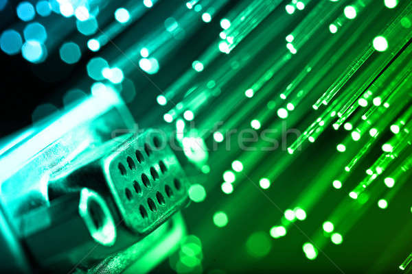 Stockfoto: Vezel · optica · licht · technologie · monitor