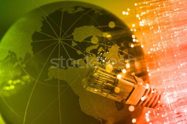 волокно оптика свет Места аннотация фон Сток-фото © arcoss