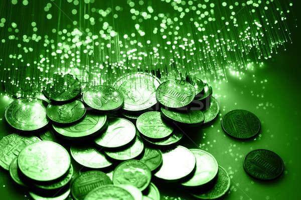 Faser Optik Licht Spots Hintergrund Metall Stock foto © arcoss