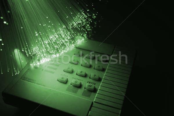 волокно оптический бизнеса безопасности блокировка стали Сток-фото © arcoss