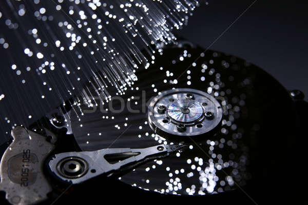 Stock fotó: Rost · optika · fény · foltok · üzlet · számítógép