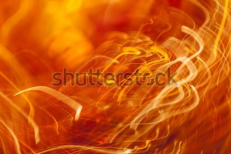 Orange light streaks abstract background  Stock photo © arcoss