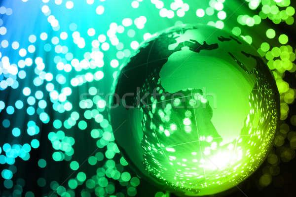 волокно оптический мира свет технологий фон Сток-фото © arcoss