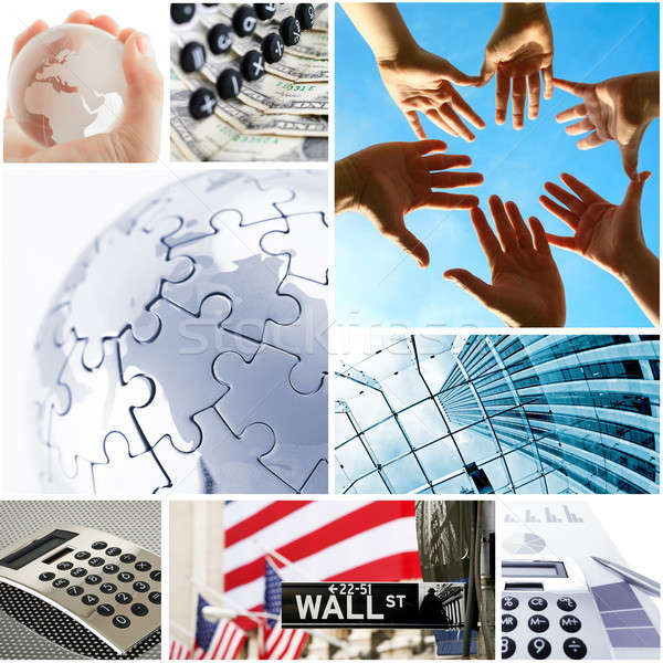 business and global communication concept Stock photo © arcoss