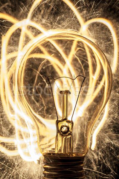 Lamp zwarte partij brand abstract achtergrond Stockfoto © arcoss