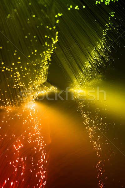 Photo stock: Fibre · optique · fibre · optique · lumière