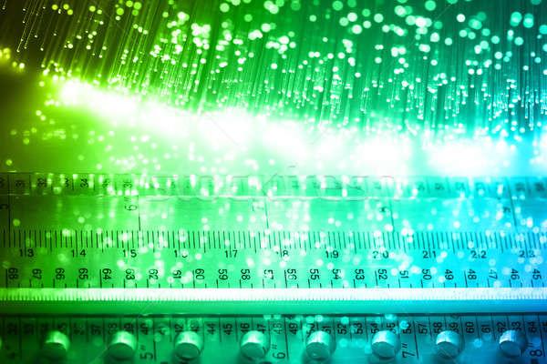 Włókno optyka świetle biuro pracy Zdjęcia stock © arcoss