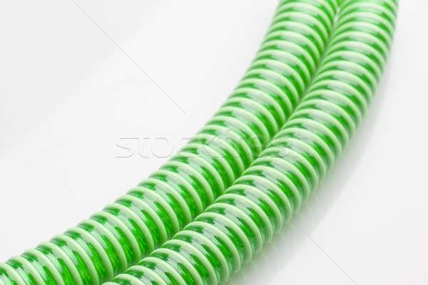 Zöld csövek háttér szín fehér tech Stock fotó © arcoss