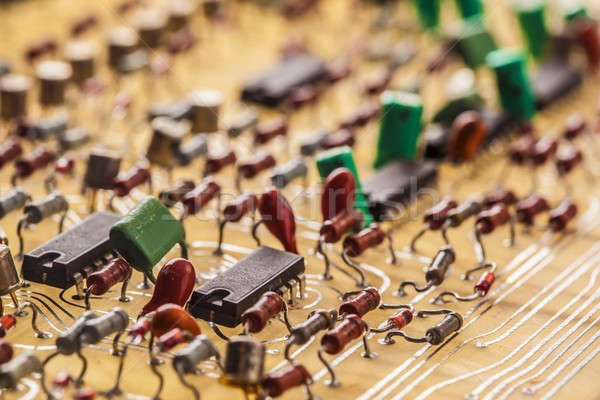 Vintage  populated printed circuit board Stock photo © arcoss