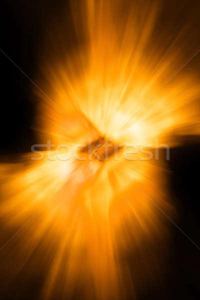 Naranja abstracción sol luz fondo arte Foto stock © arcoss
