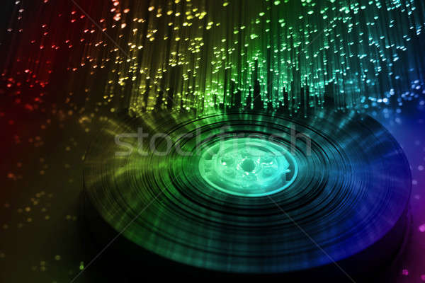 Manyetik müzik teknoloji kutu disko grup Stok fotoğraf © arcoss