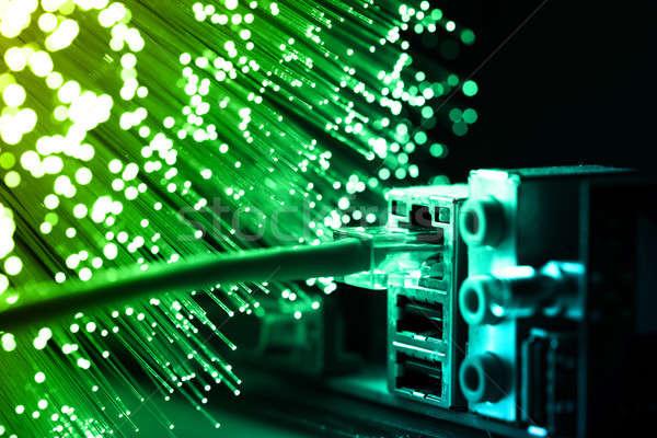 Rost optika fény foltok internet szerver Stock fotó © arcoss