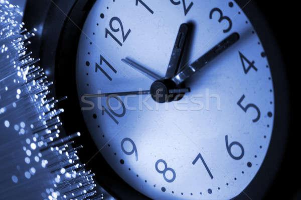 волокно оптический свет Места бизнеса часы Сток-фото © arcoss